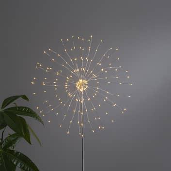 LED-dekolampe Firework 3D sølvgra, 130 cm høy