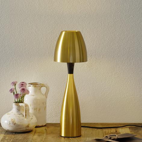 Lampada LED da tavolo Anemon 38,9 cm, ottone