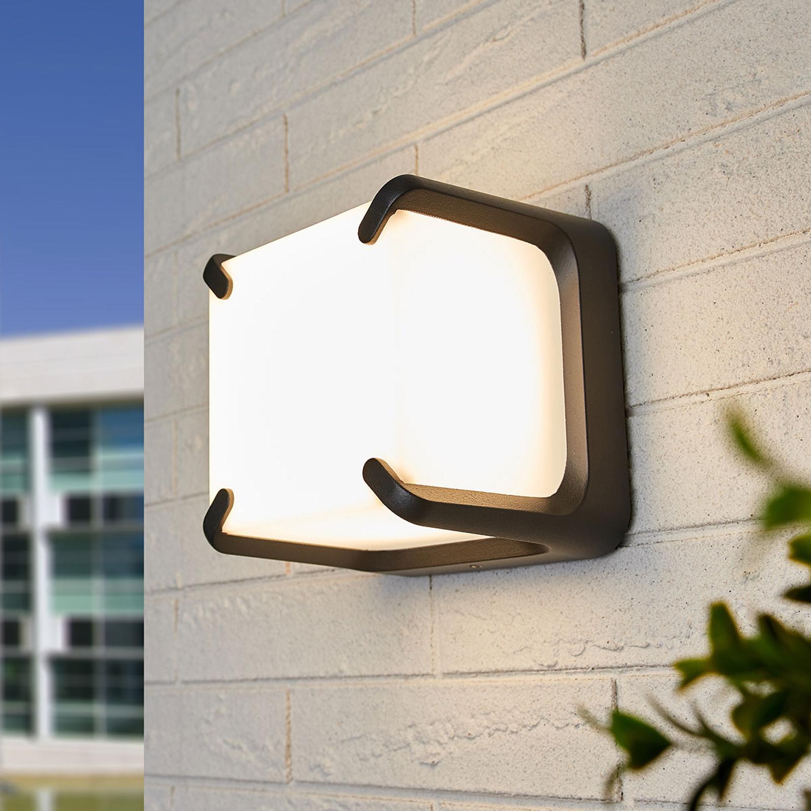 Vierkant gevormde LED outdoor wandlamp Armor