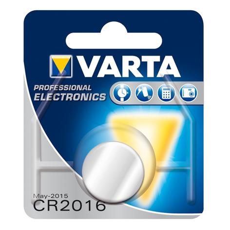 Lithium CR2016 3V knapbatteri fra VARTA