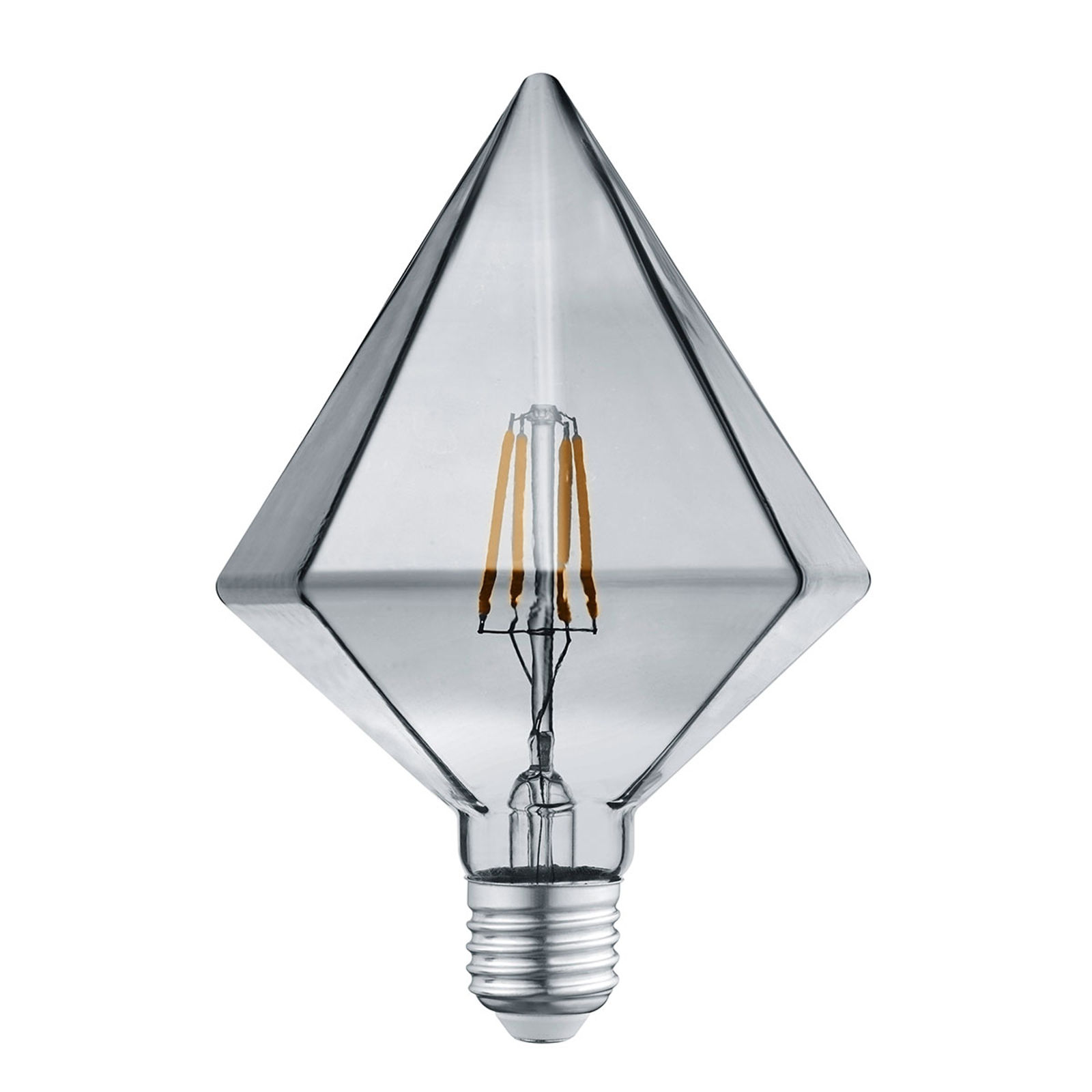 LED-Lampe E27 4W 3.000K Diamant rauchfarben