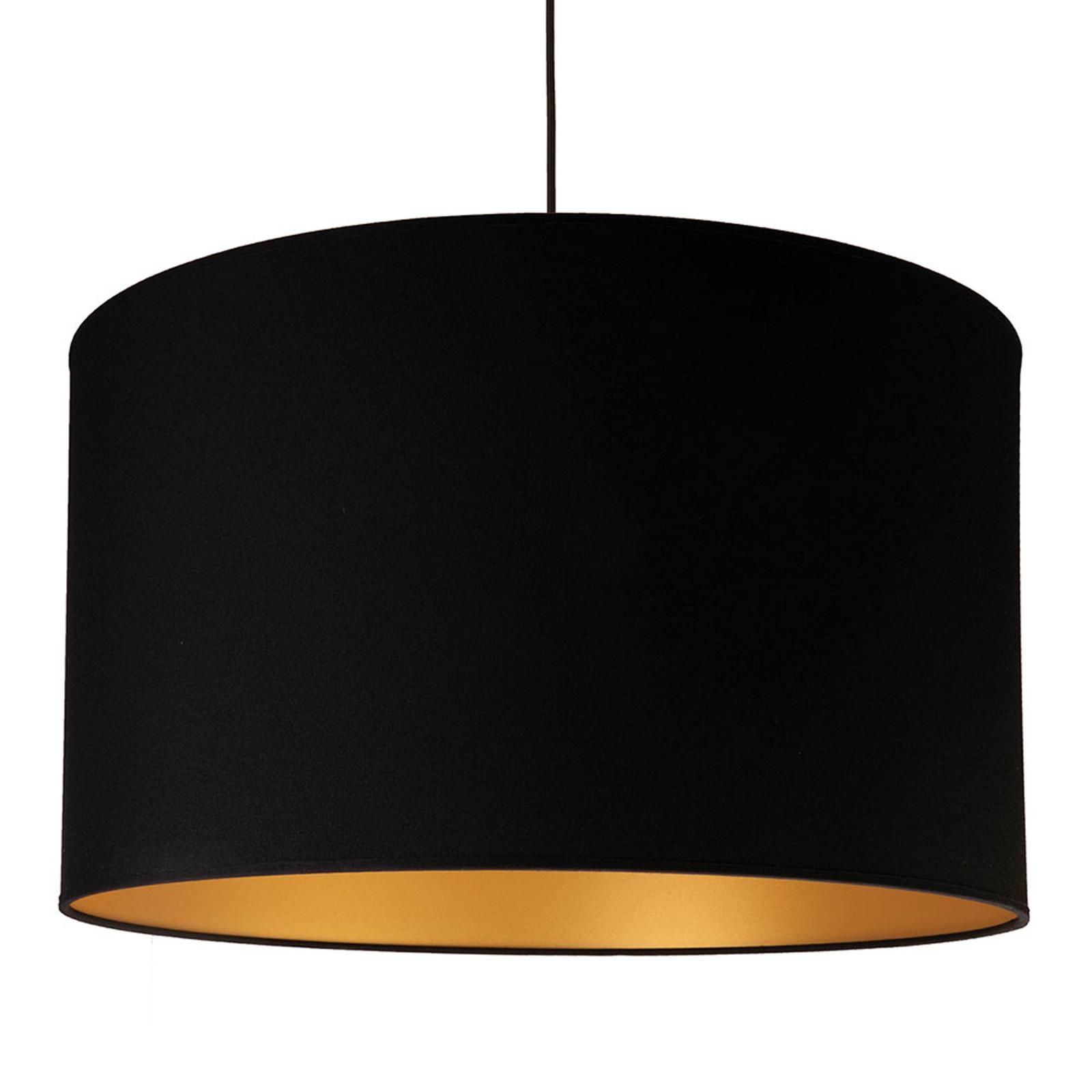 Lampa wisząca Roller, czarna, wewnątrz złota