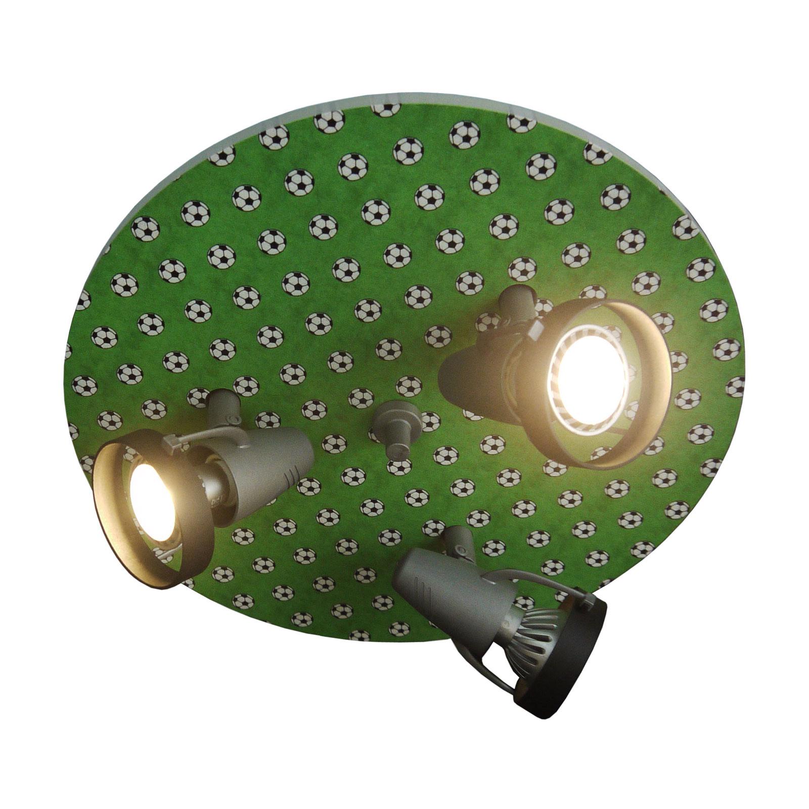 Plafondlamp Voetballen, 3-lamps