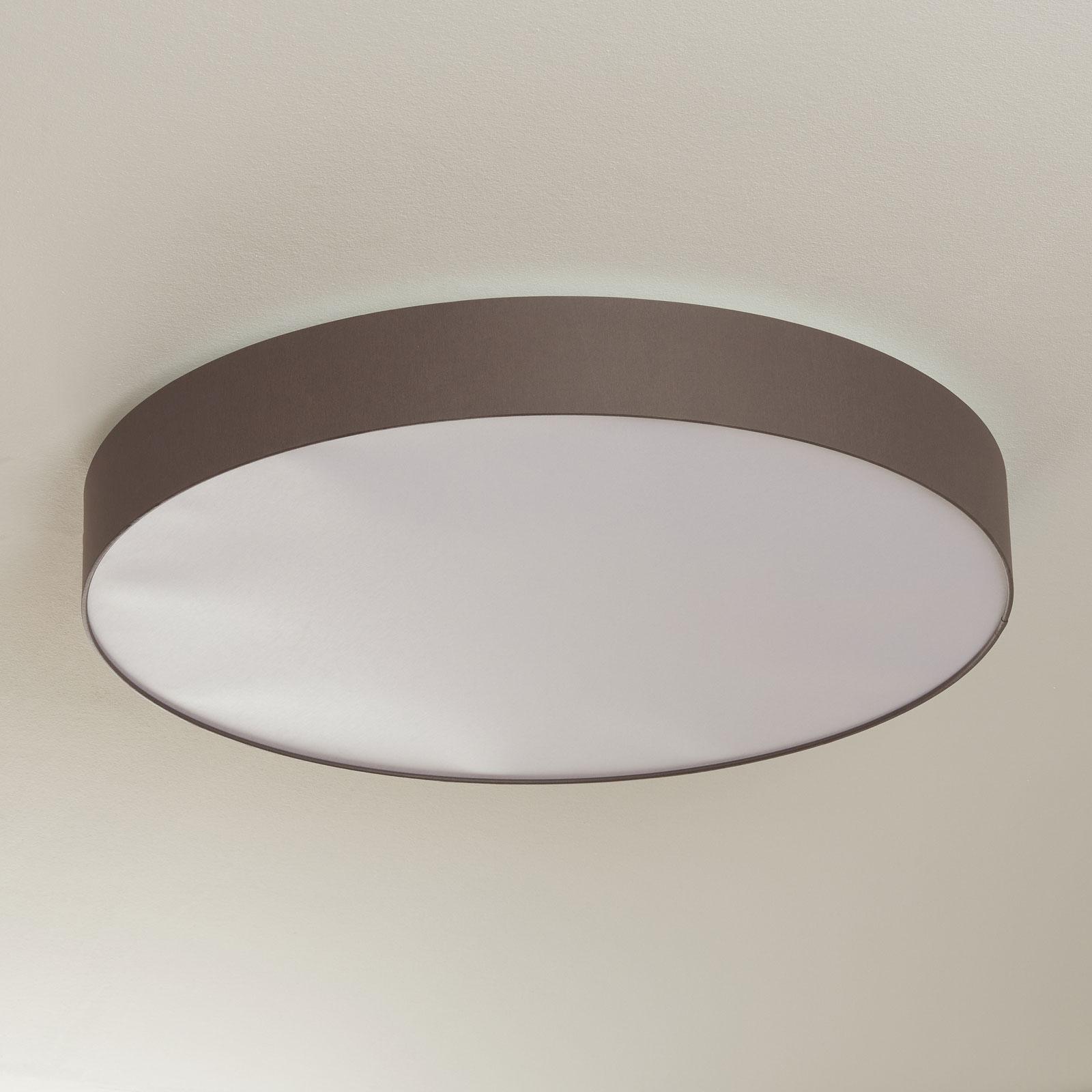 LED plafondlamp Luno met chintz lampenkap