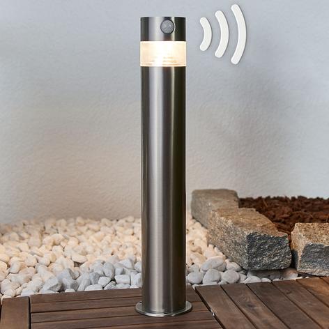 Kalypso - LED-solar-sokkellampe i rustfritt stål