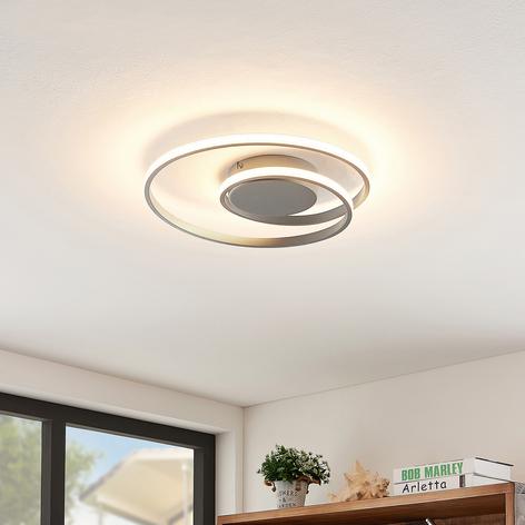 Lindby Kyron plafonnier LED, gris titane