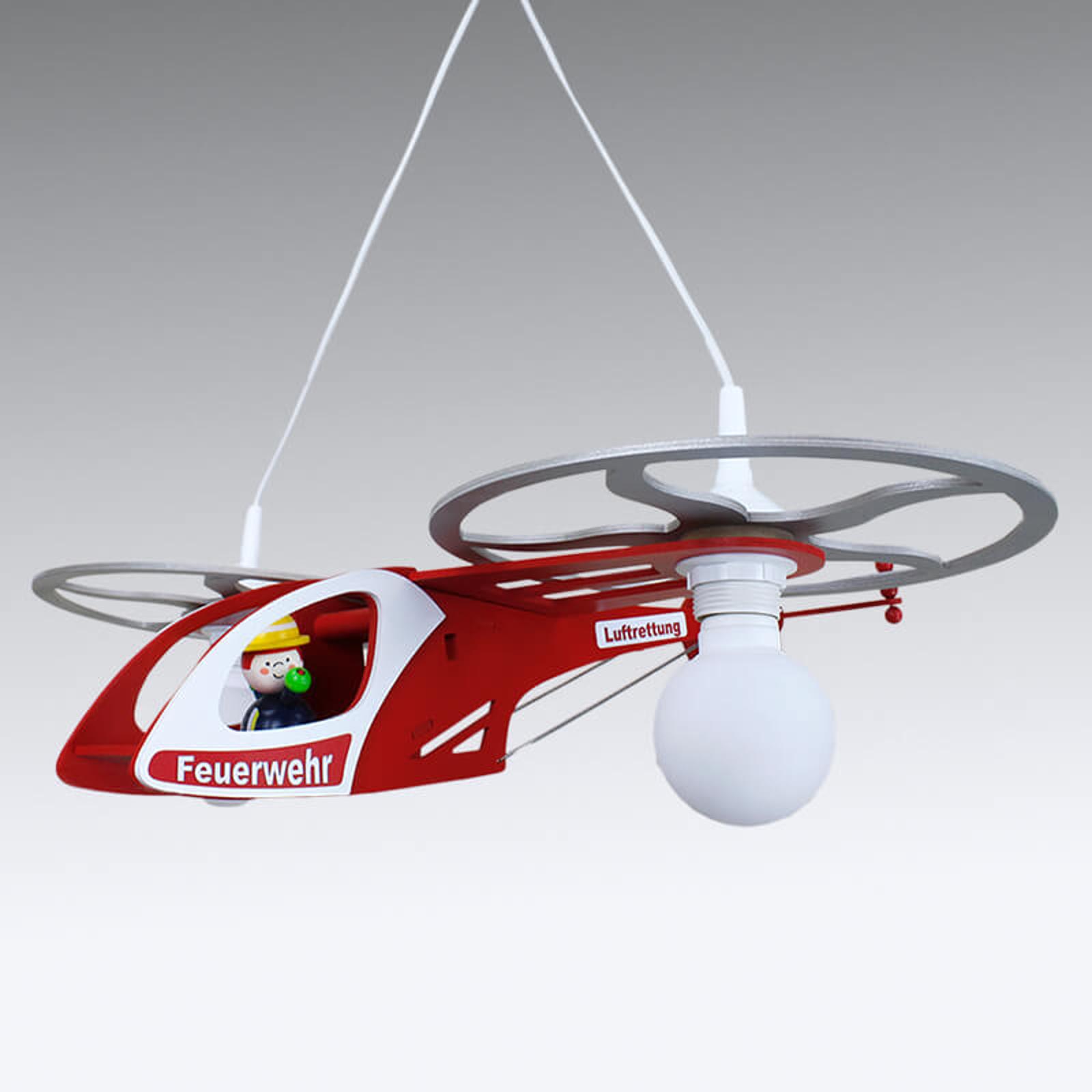 Lampa wisząca Helikopter Fred, dla dzieci