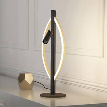 Lucande Matwei lampe à poser LED ovale, laiton
