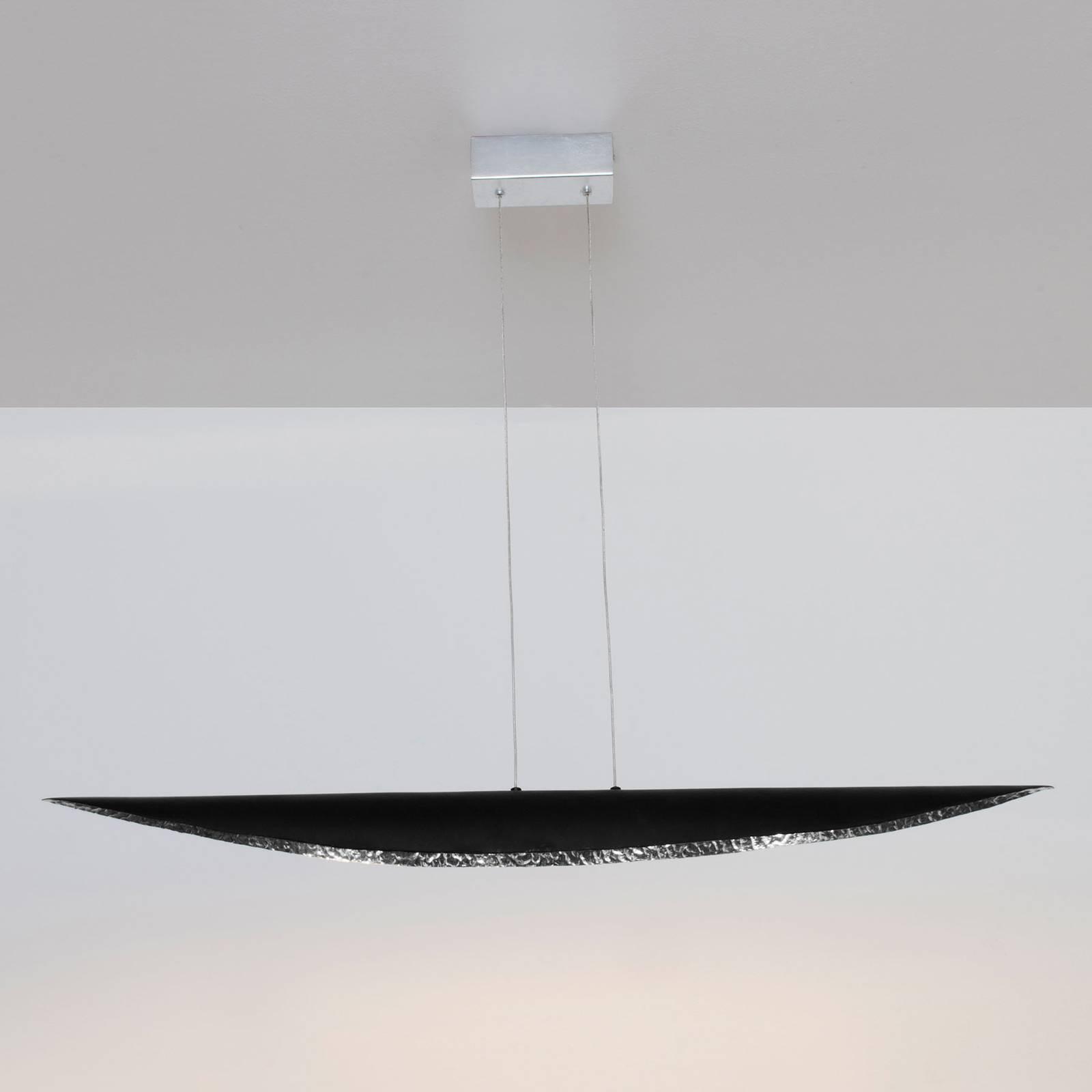 Lampa wisząca LED Chiasso, czarny/srebrny