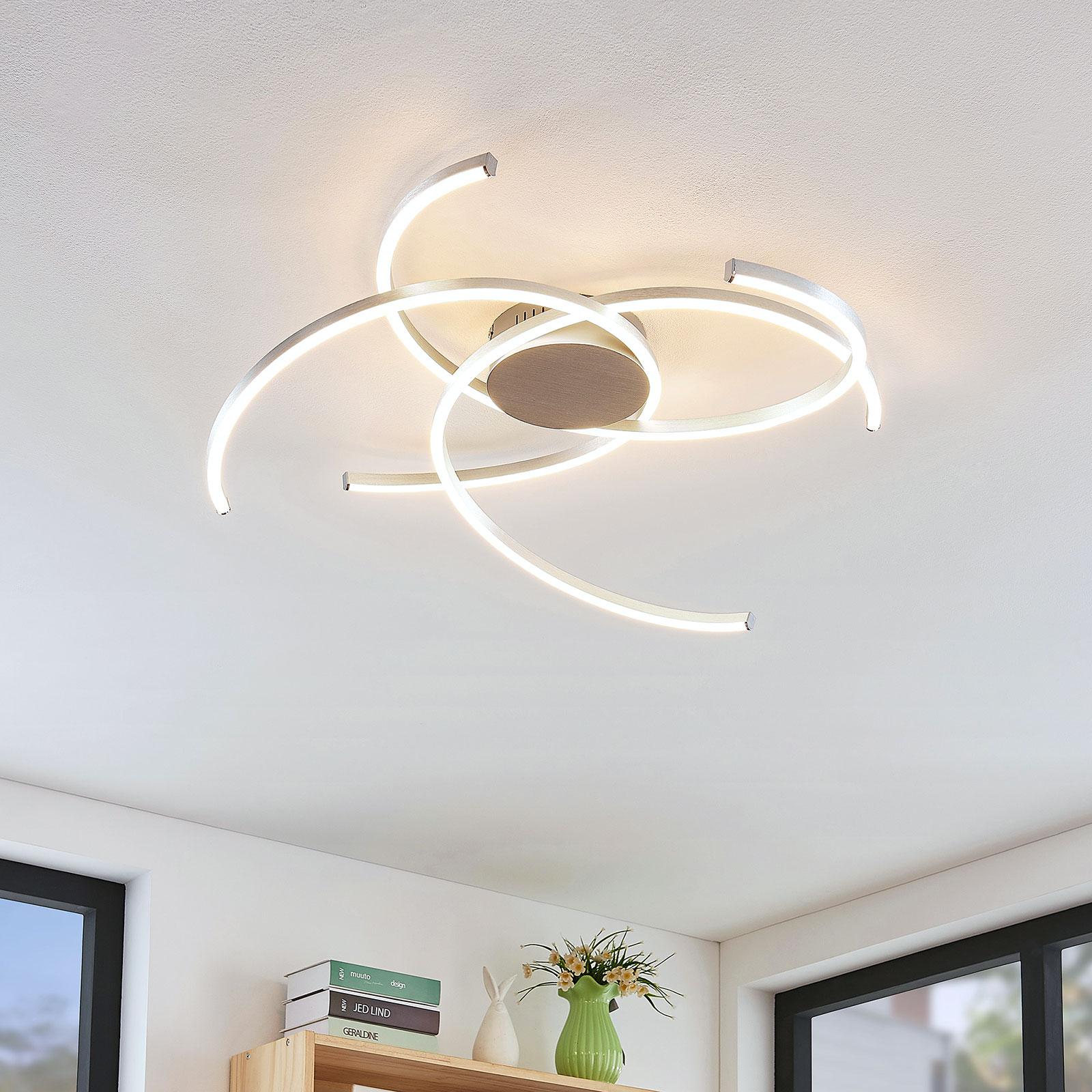 Lindby Katris LED-Deckenleuchte, 73 cm, alu