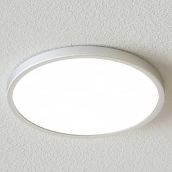 Lámpara LED de techo Solvie circular, gris