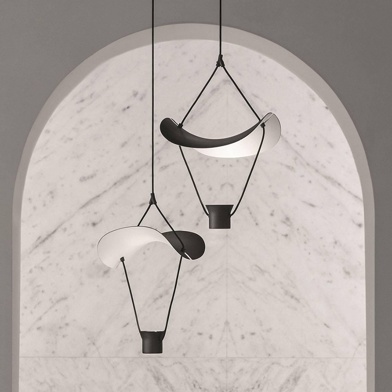 LED-Hängeleuchte Vollee S1 P, 44cm, Down, schwarz