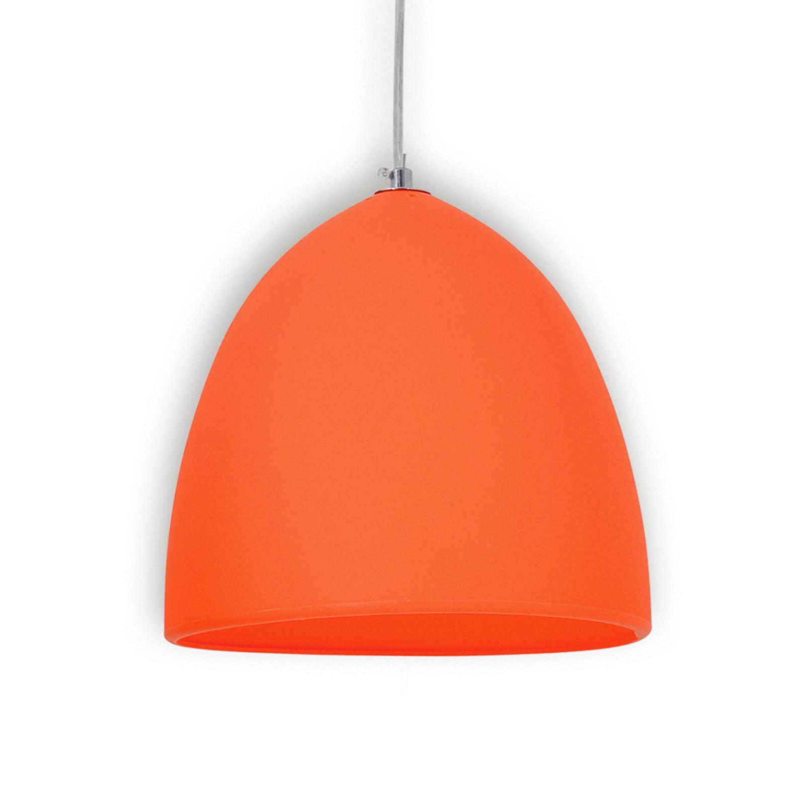 Pomarańczowa silikonowa lampa wisząca Fancy