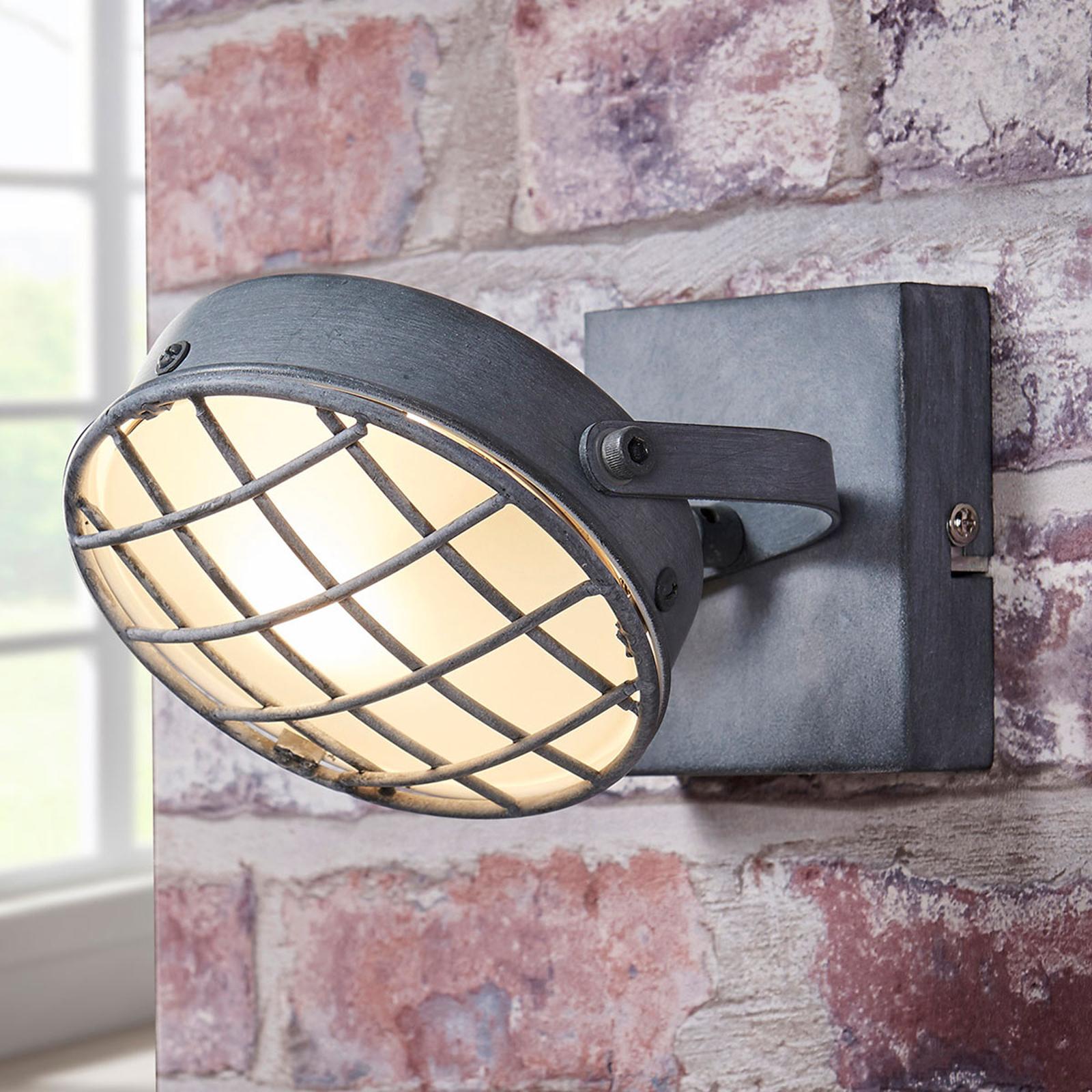 Kouřově šedý LED reflektor Tamin, industriální