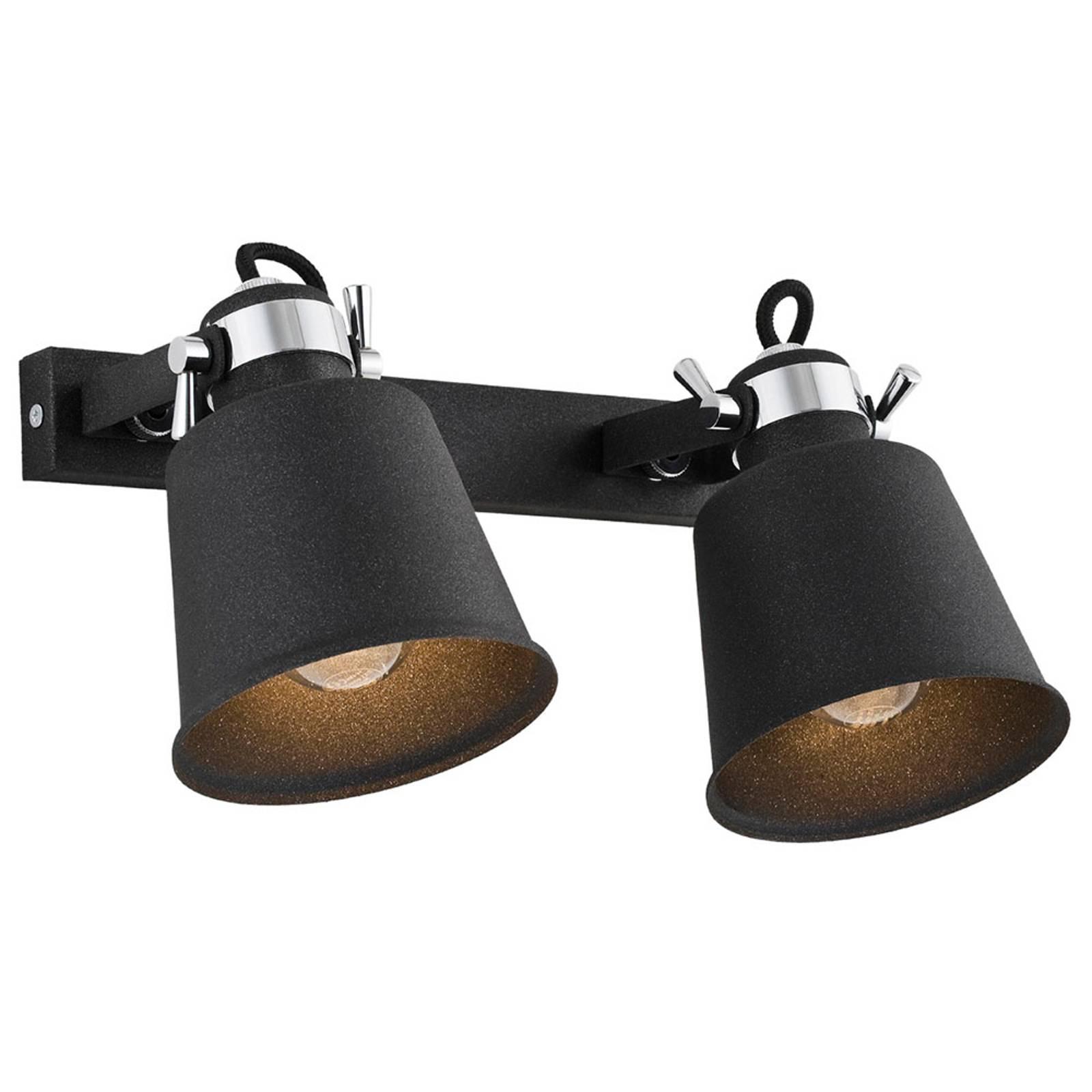 Wandstrahler Kerava, zweiflammig, schwarz