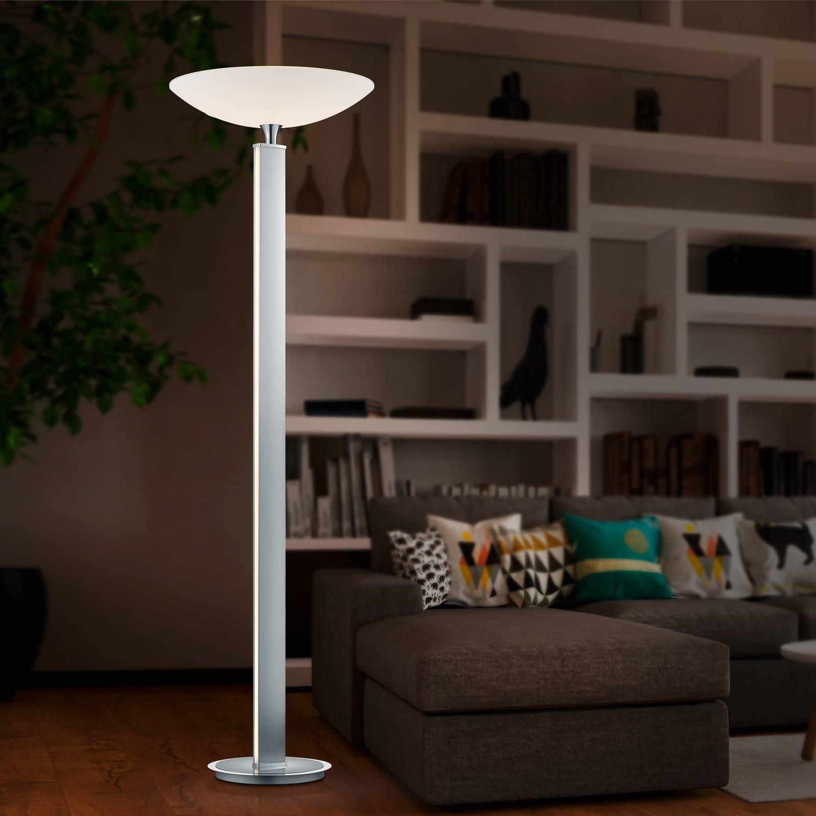 BANKAMP Pure F LED uplighter, nikkel