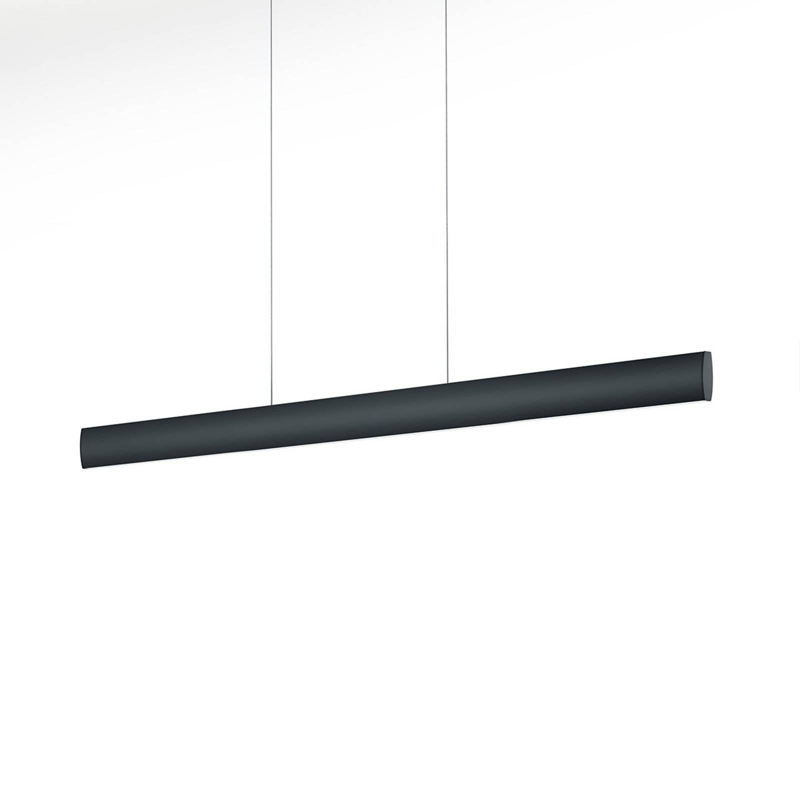 LED hanglamp Runa, zwart, lengte 92 cm