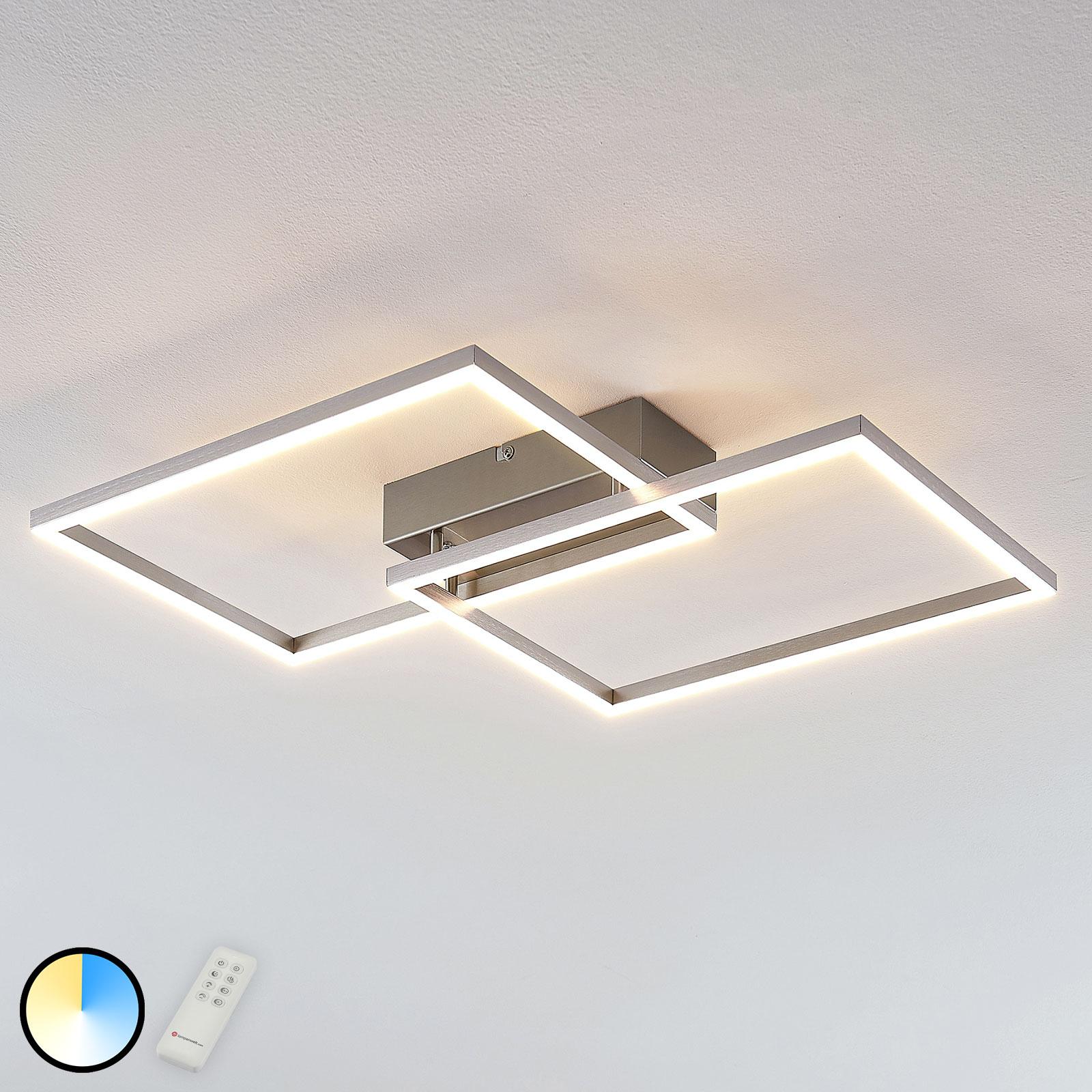Lampa sufitowa LED Quadra, 2-punktowa, 50 cm