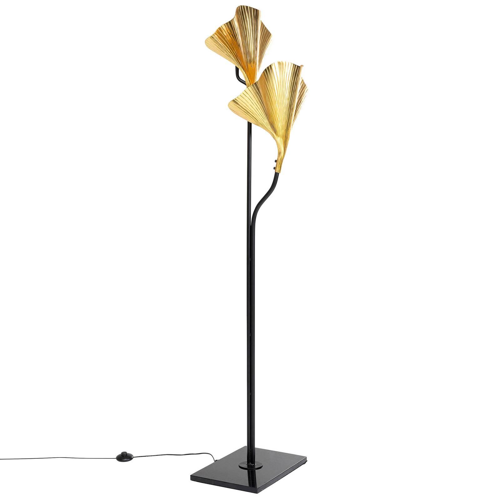 KARE Gingko Due Stehleuchte mit goldenen Blättern