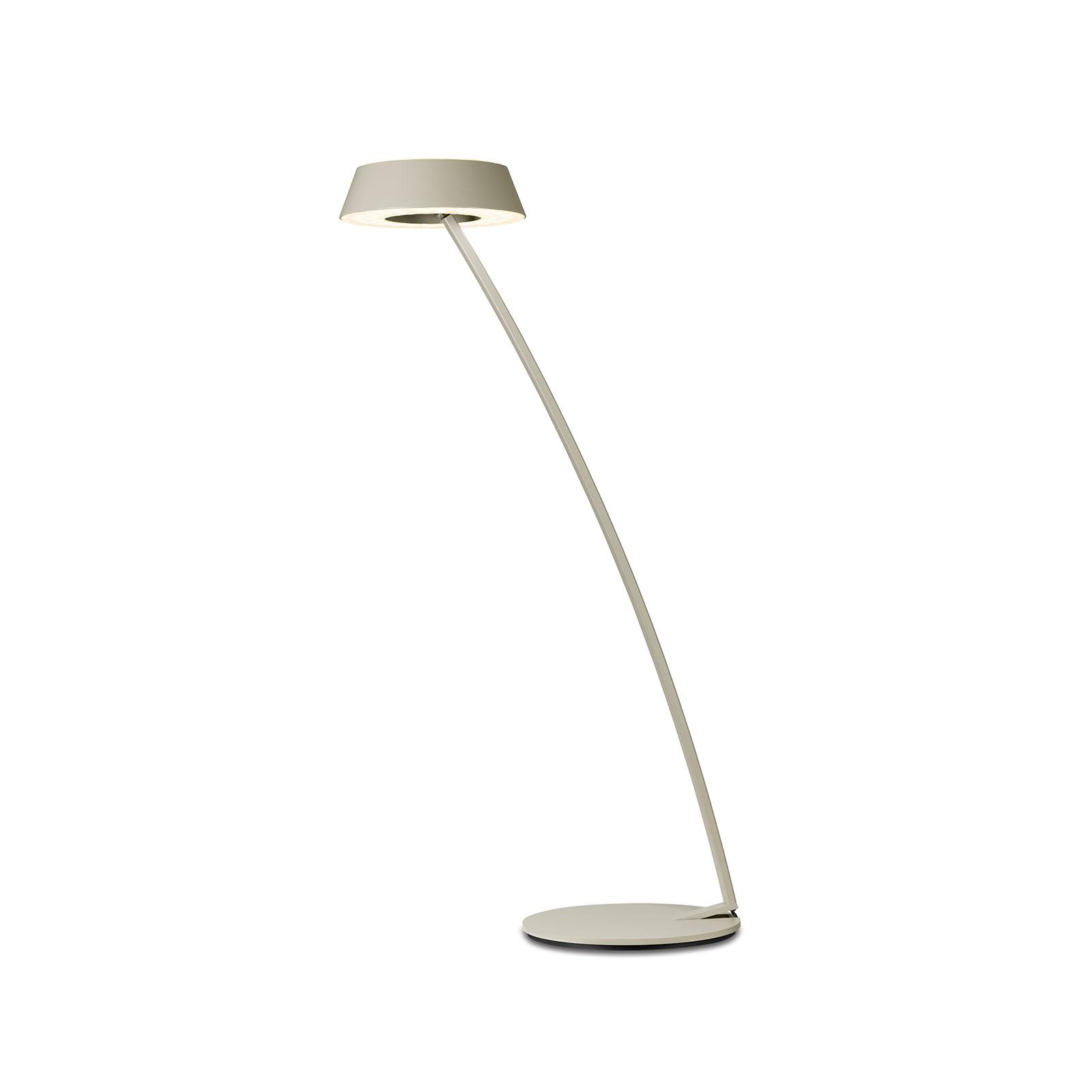 OLIGO Glance lampa stołowa LED wygięta kaszmir
