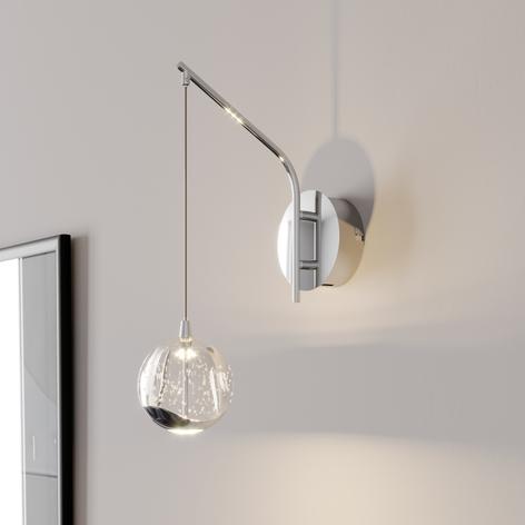 Applique LED Hayley avec sphère suspendue, chromé