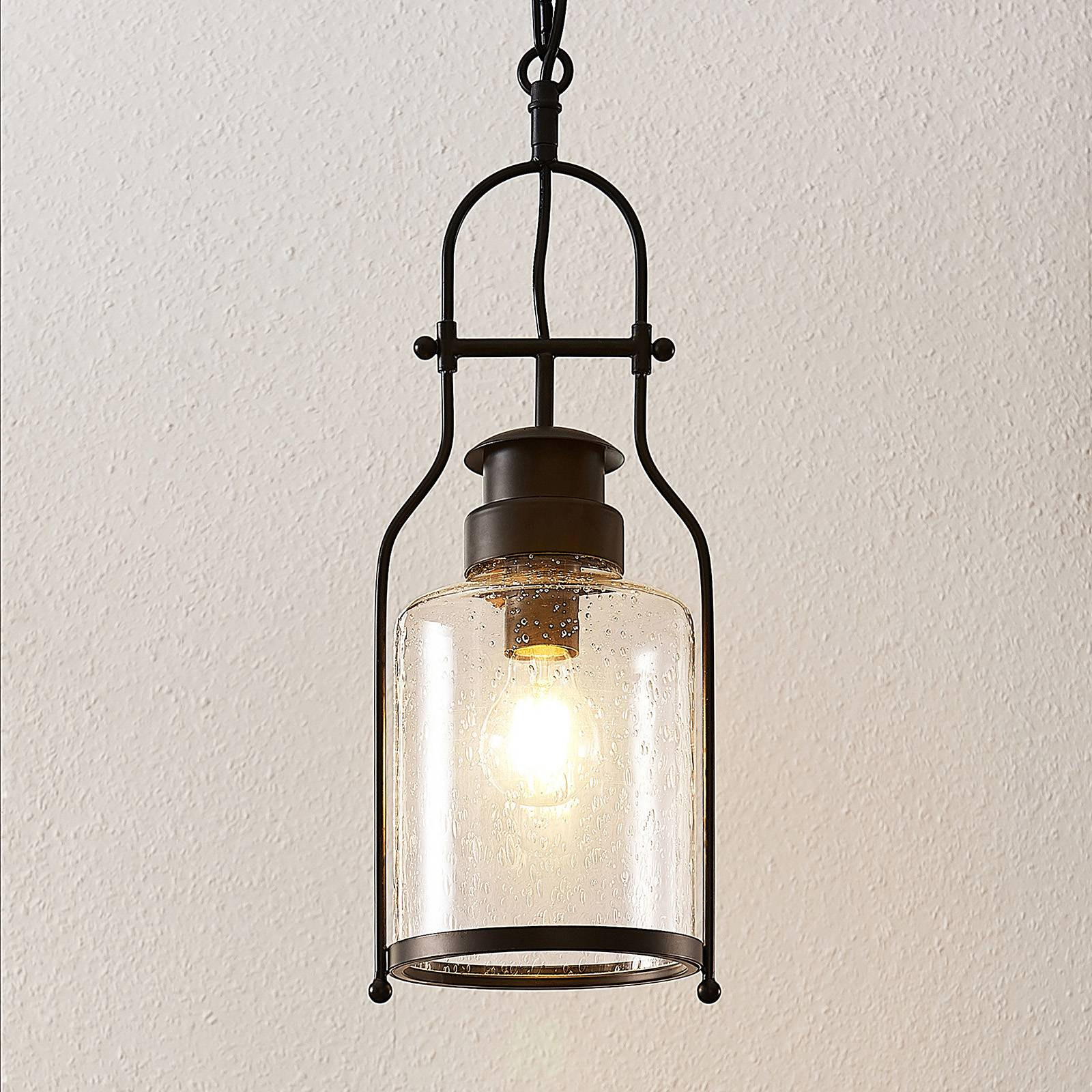 Lindby Rozalie hanglamp, lantaarn, zwart