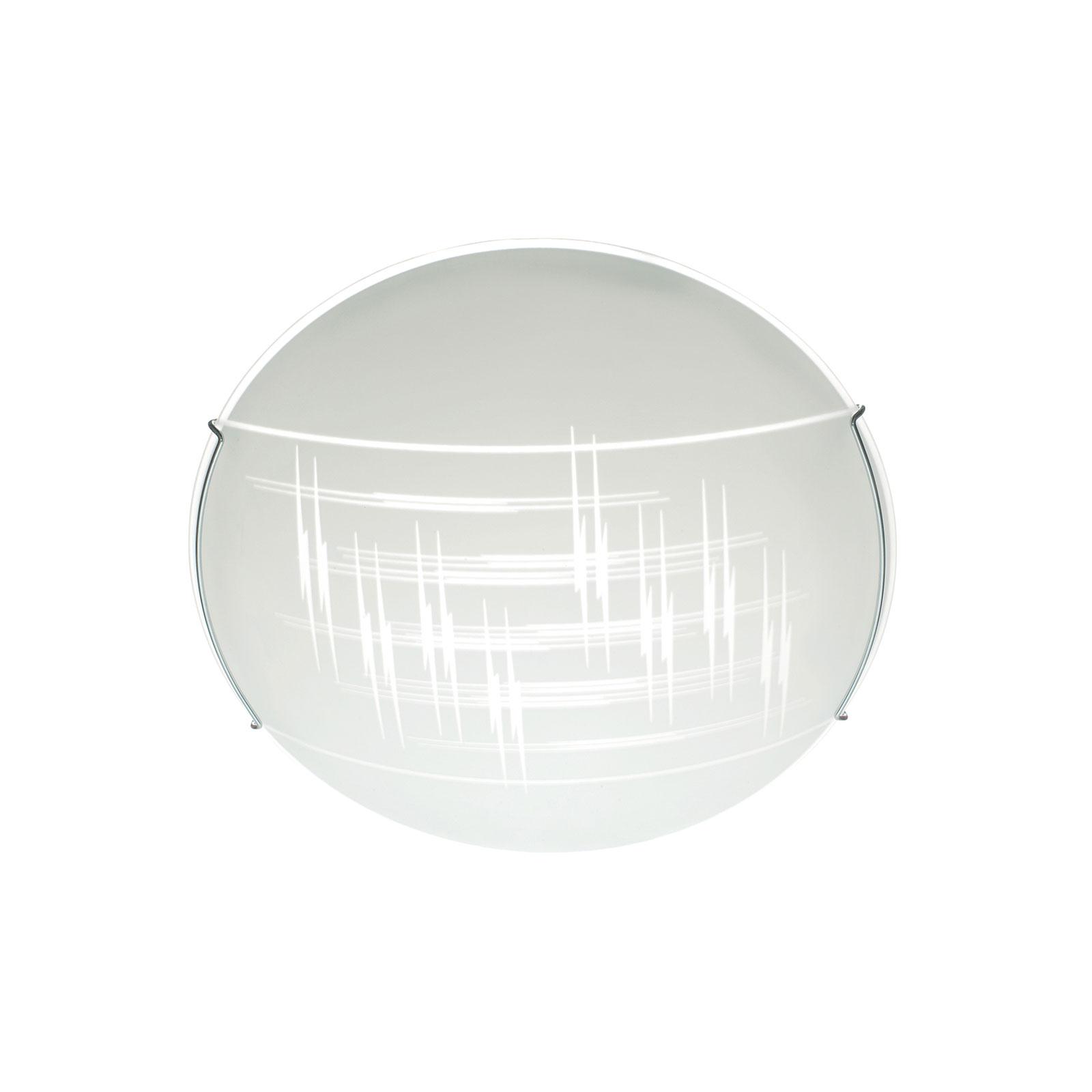 Taklampe Scratch av glass, Ø 30 cm