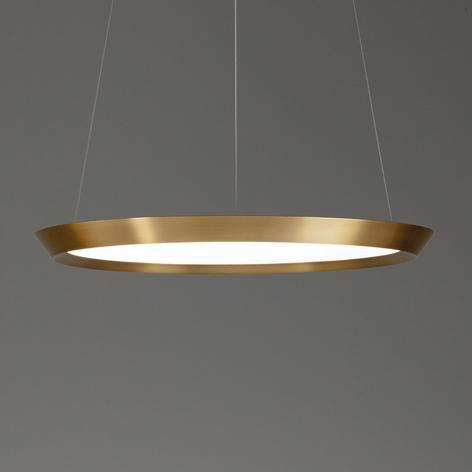 Grok Saturn LED-Hängelampe messing satin, Ø 60 cm