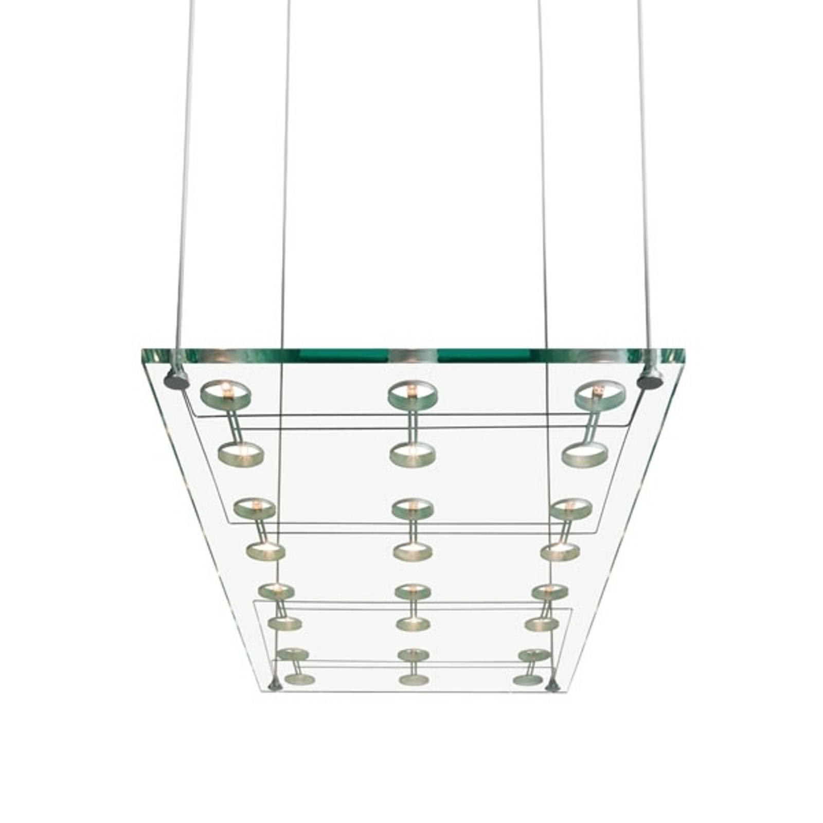 Szlachetna designerska lampa wisząca SOSPESA szkło