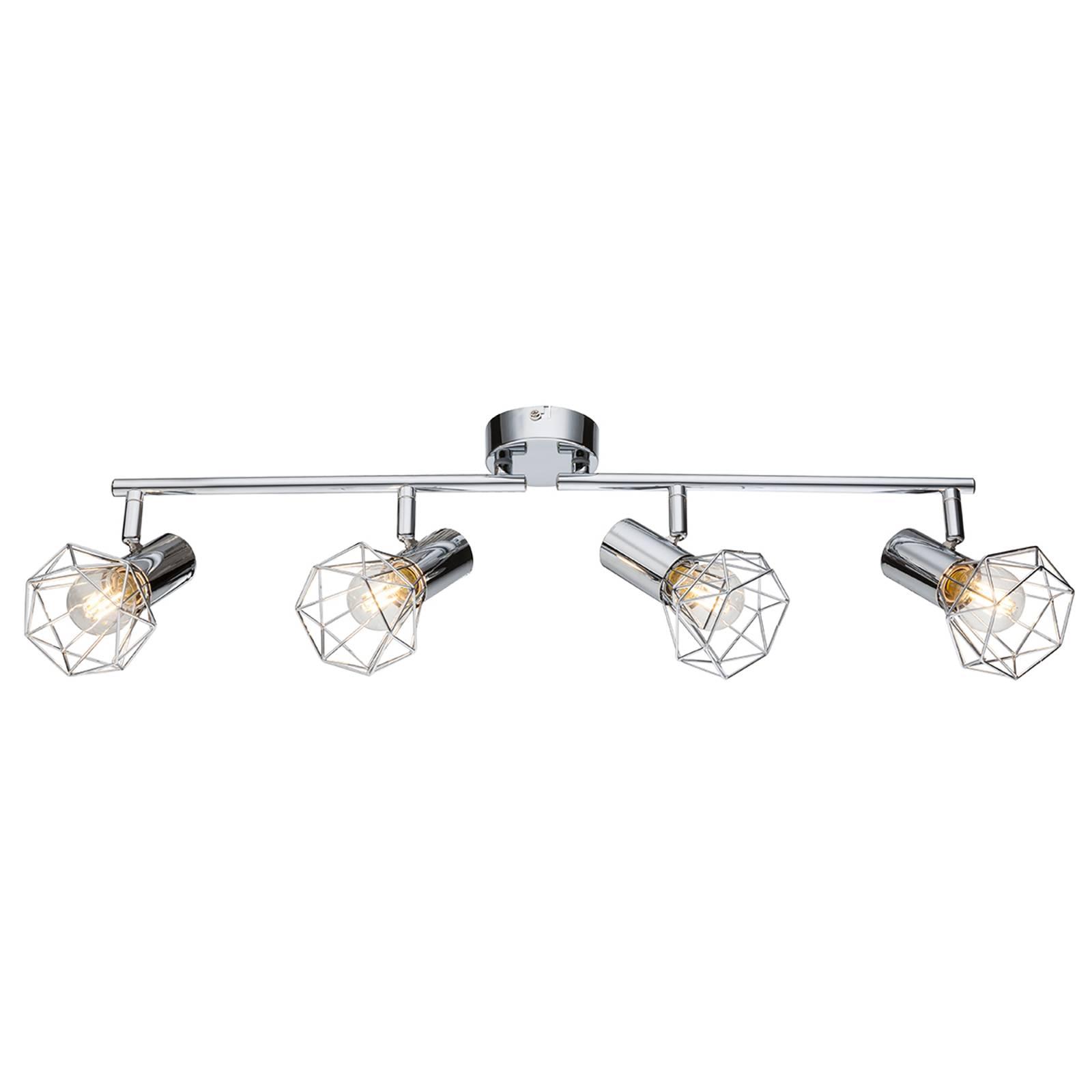 Plafondlamp Daiva 4 lichtbr. - beweeglijke straler