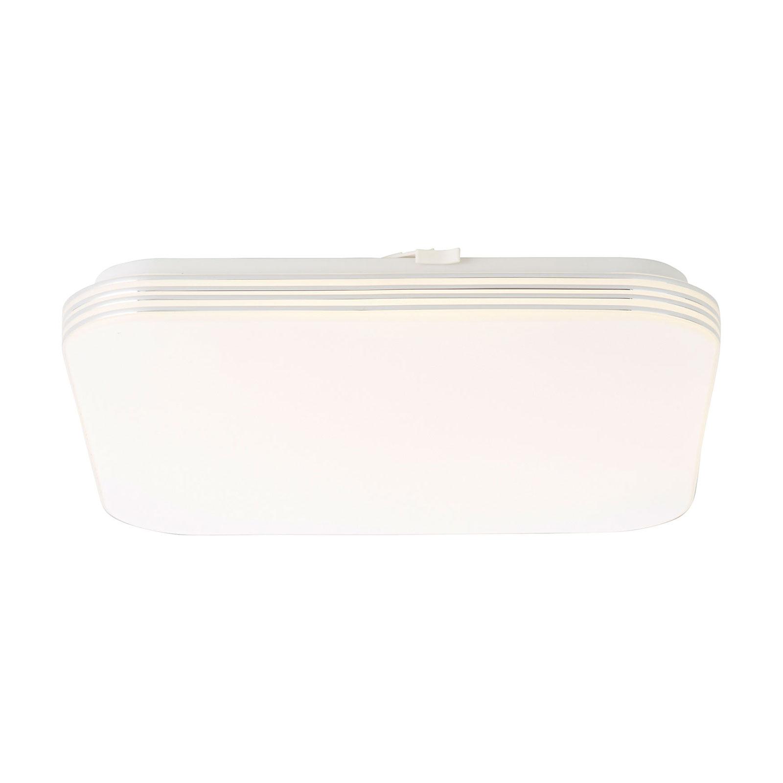 LED-Deckenleuchte Ariella Weiß/Chrom, 34x34 cm