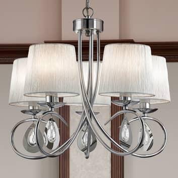 Magnifica lampada a sospensione Angelique 5 luci