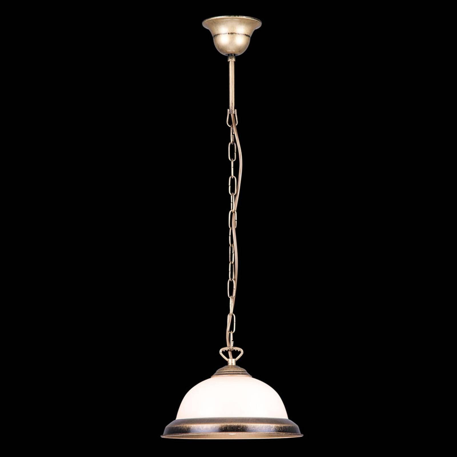 Lampa wisząca Torio, 1-punktowa ręcznie kolorowana