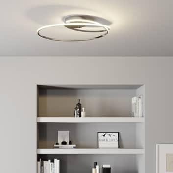 Lindby Xenias lámpara LED de techo, cromo