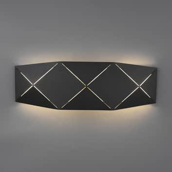 Zandor LED-væglampe, sort, bredde 40 cm