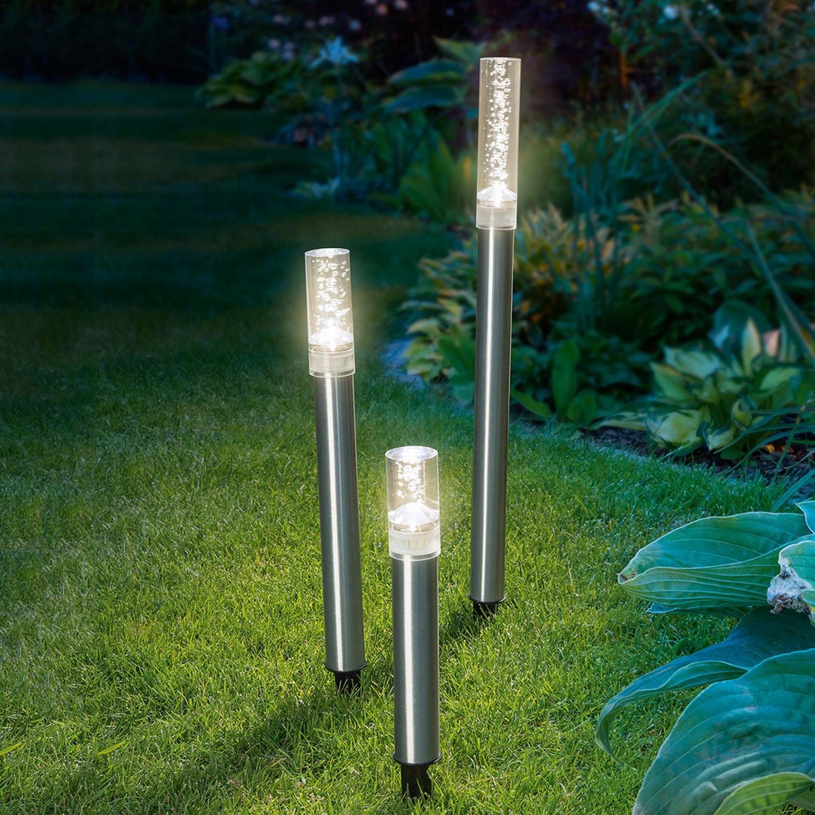 Aste luminose solari a LED Trio Sticks, set da 3