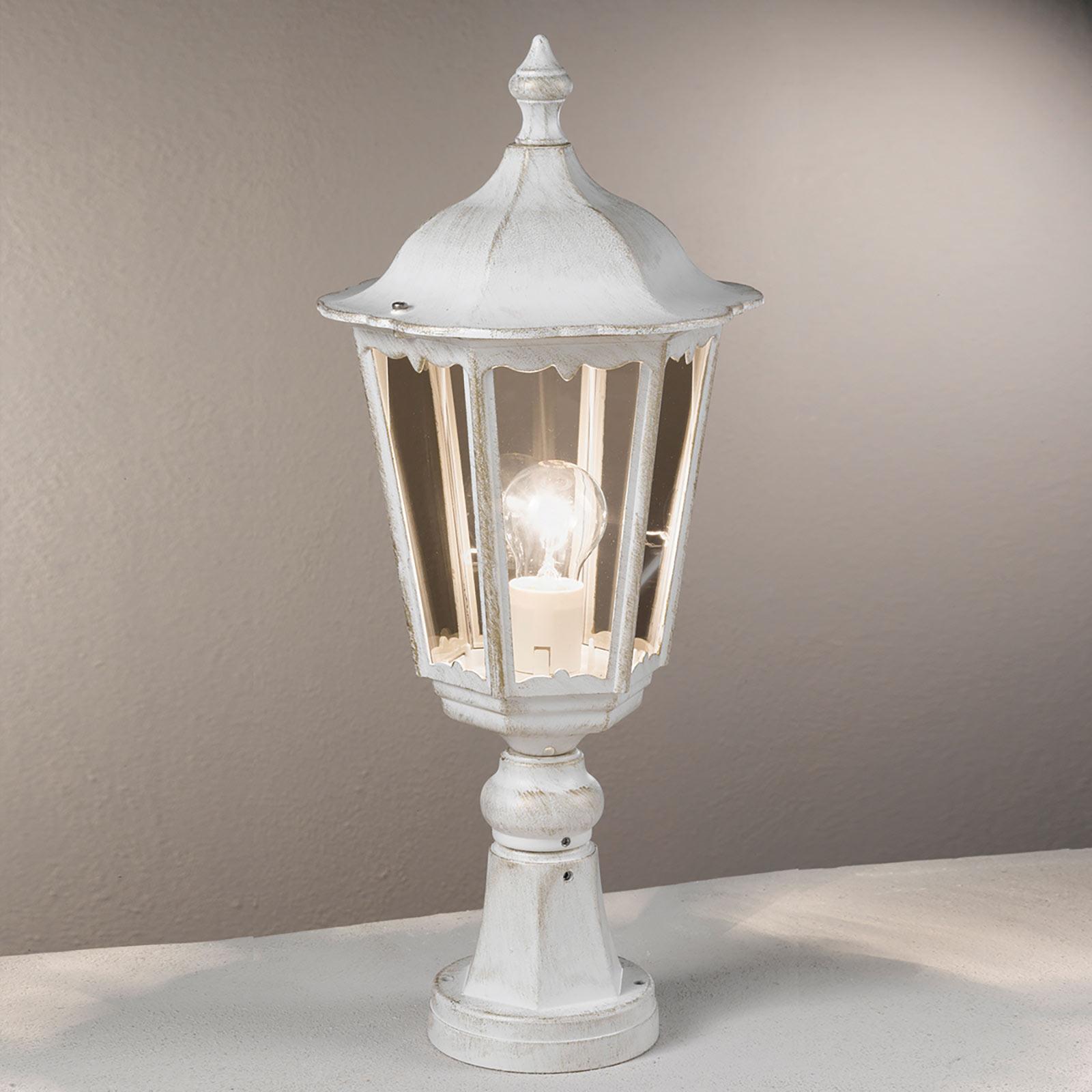 Słupek oświetleniowy Puchberg biało-złota