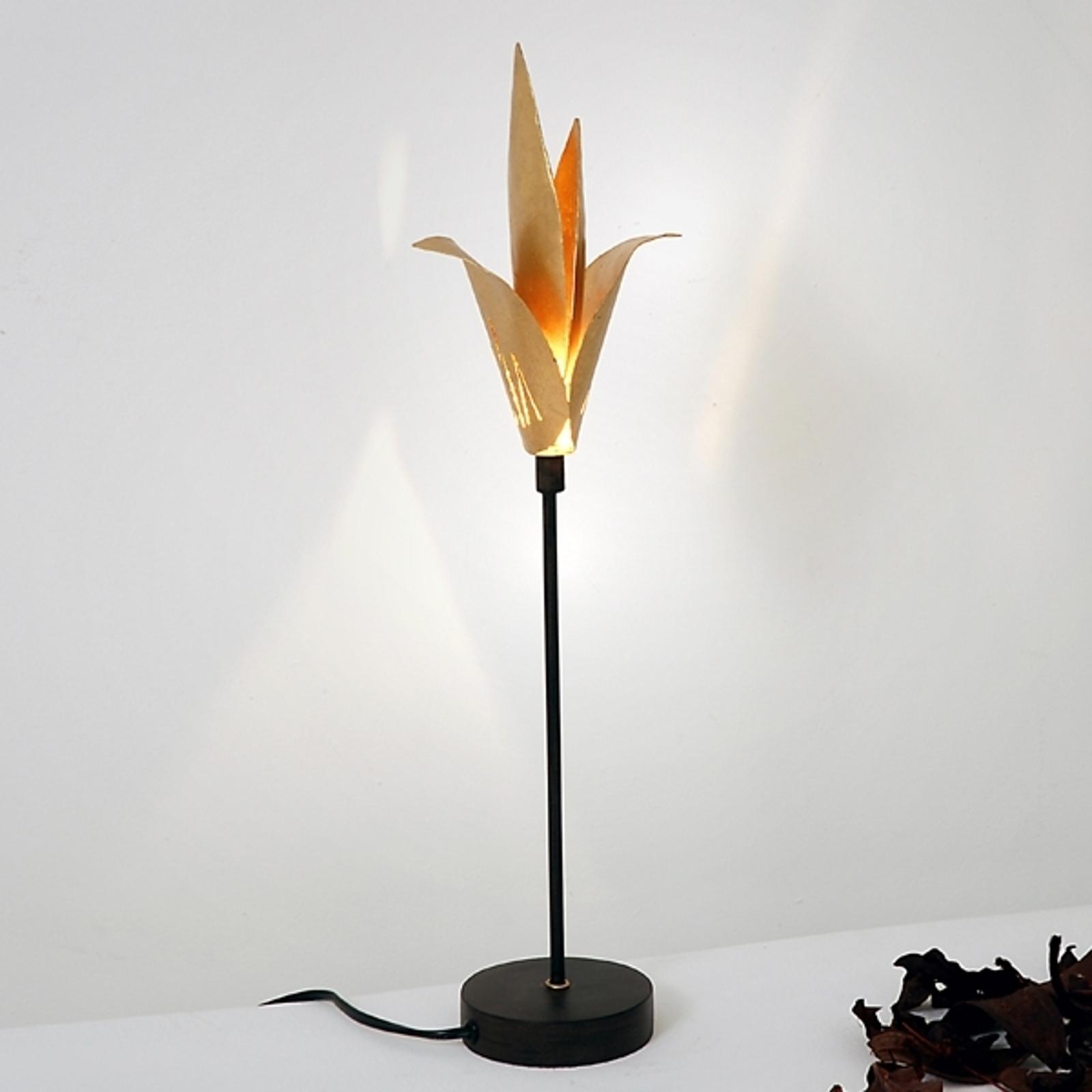 Exclusieve tafellamp AIRONE met gouden bloesem