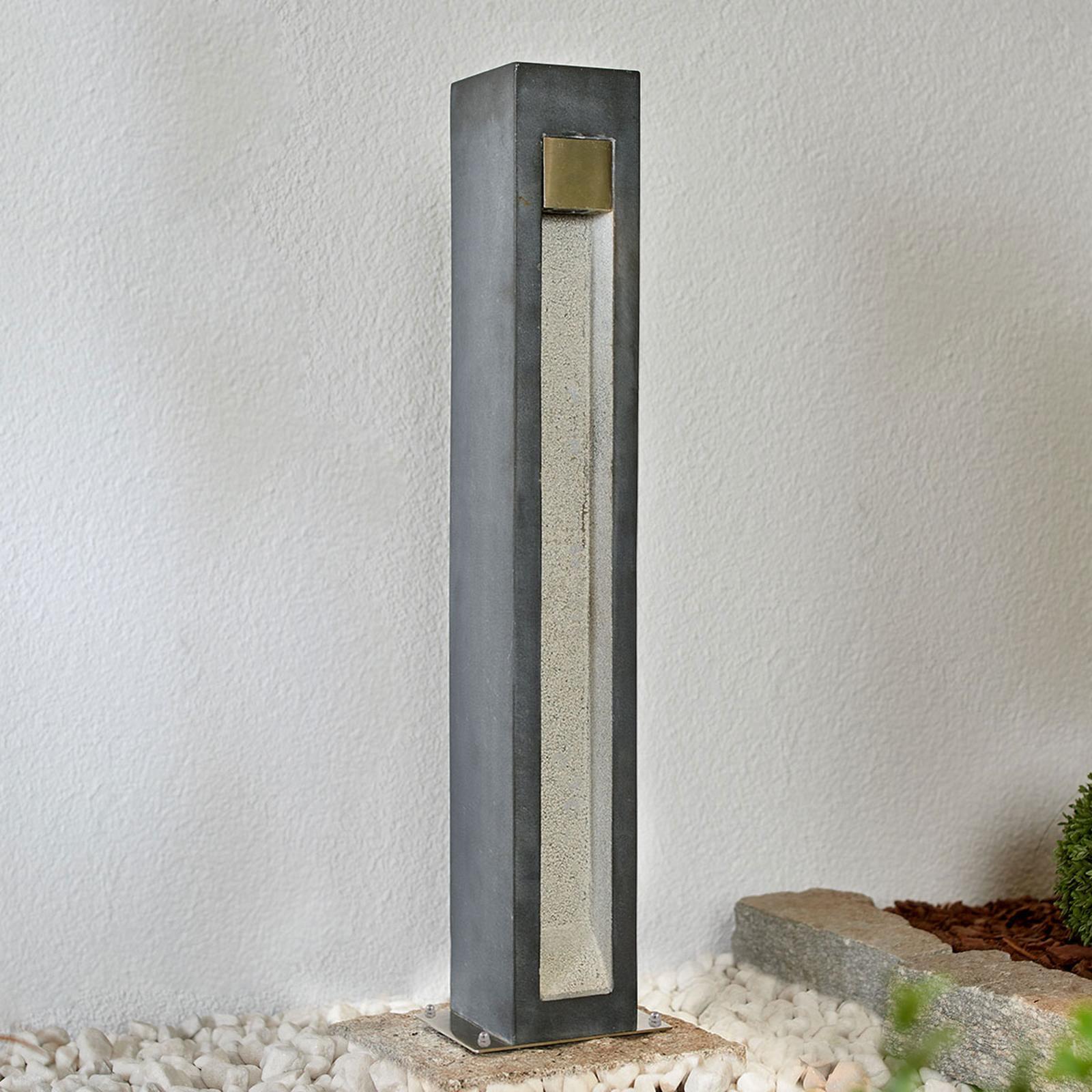 Potelet LED Adejan avec basalte, 70cm