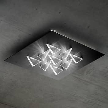 LED stropní svítidlo Cristalli 36x36 cm černé