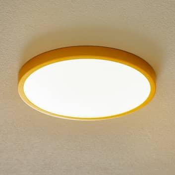 Vika LED-loftlampe, rund, mat guld