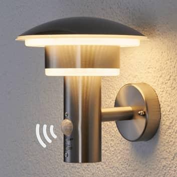 lámpara pared exterior PIR Lillie con LED