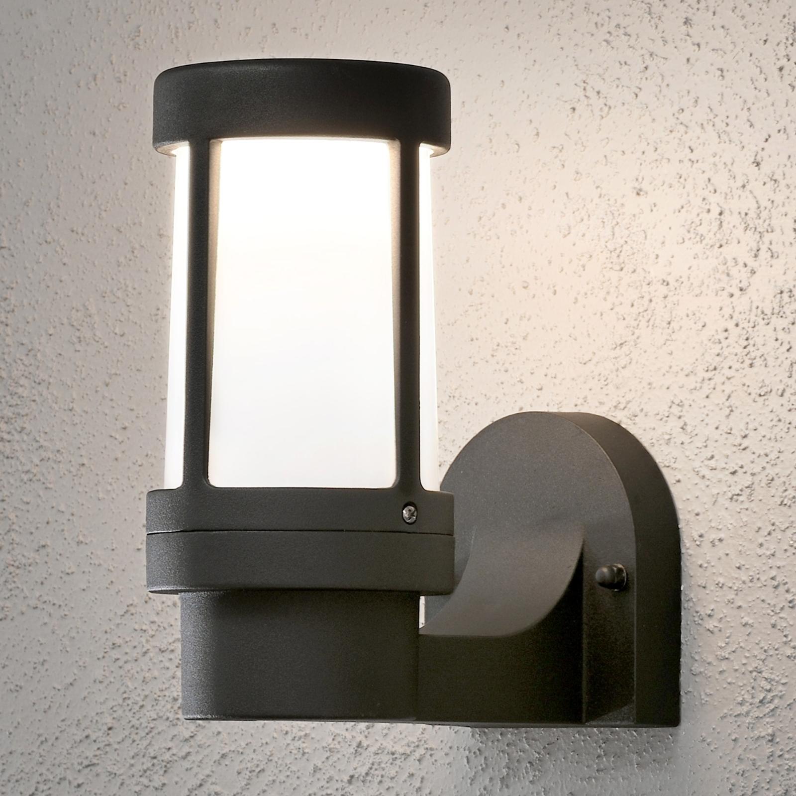 Modna zewnętrzna lampa ścienna Siena, czarna