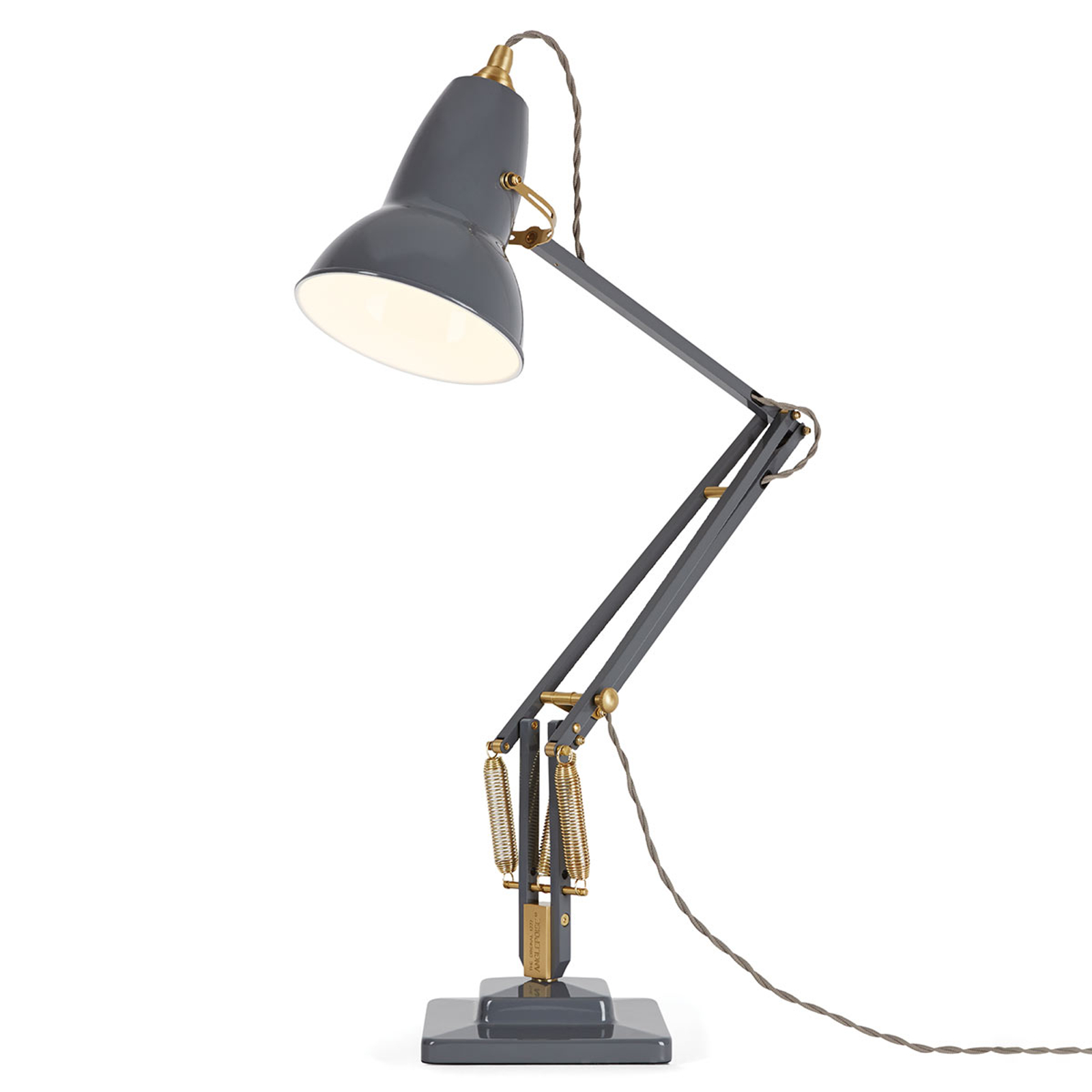 Anglepoise Original 1227 messing bordlampe grå