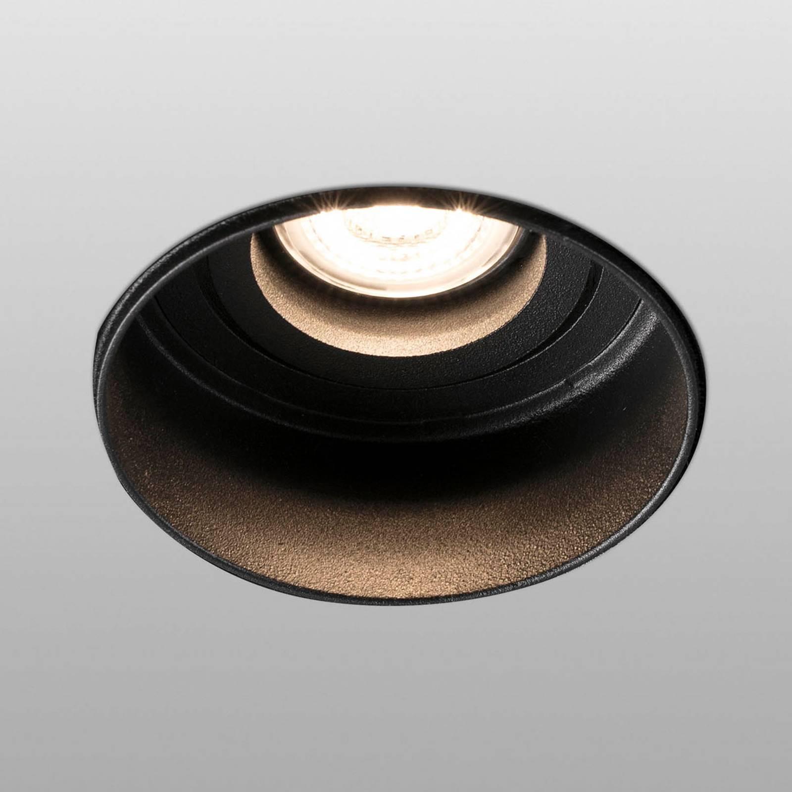 Inbouwspot Hyde 1-lamp rond gezwenkt zwart