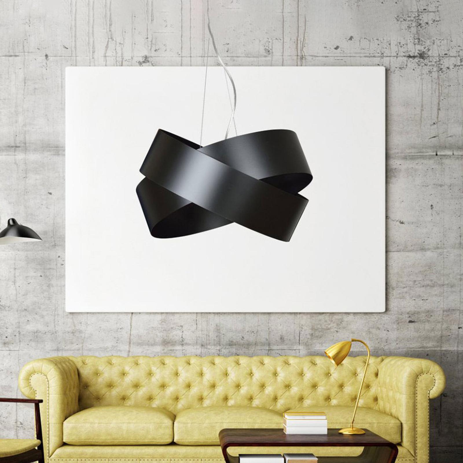 Vieno hængelampe af sorte stålringe