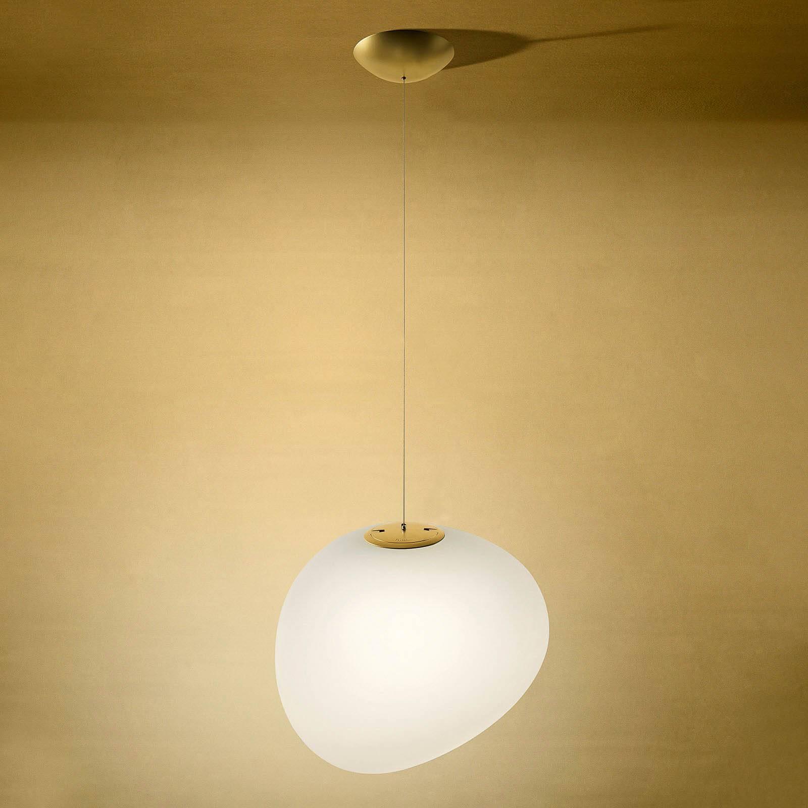 Foscarini Gregg midi LED-Hängeleuchte, gold