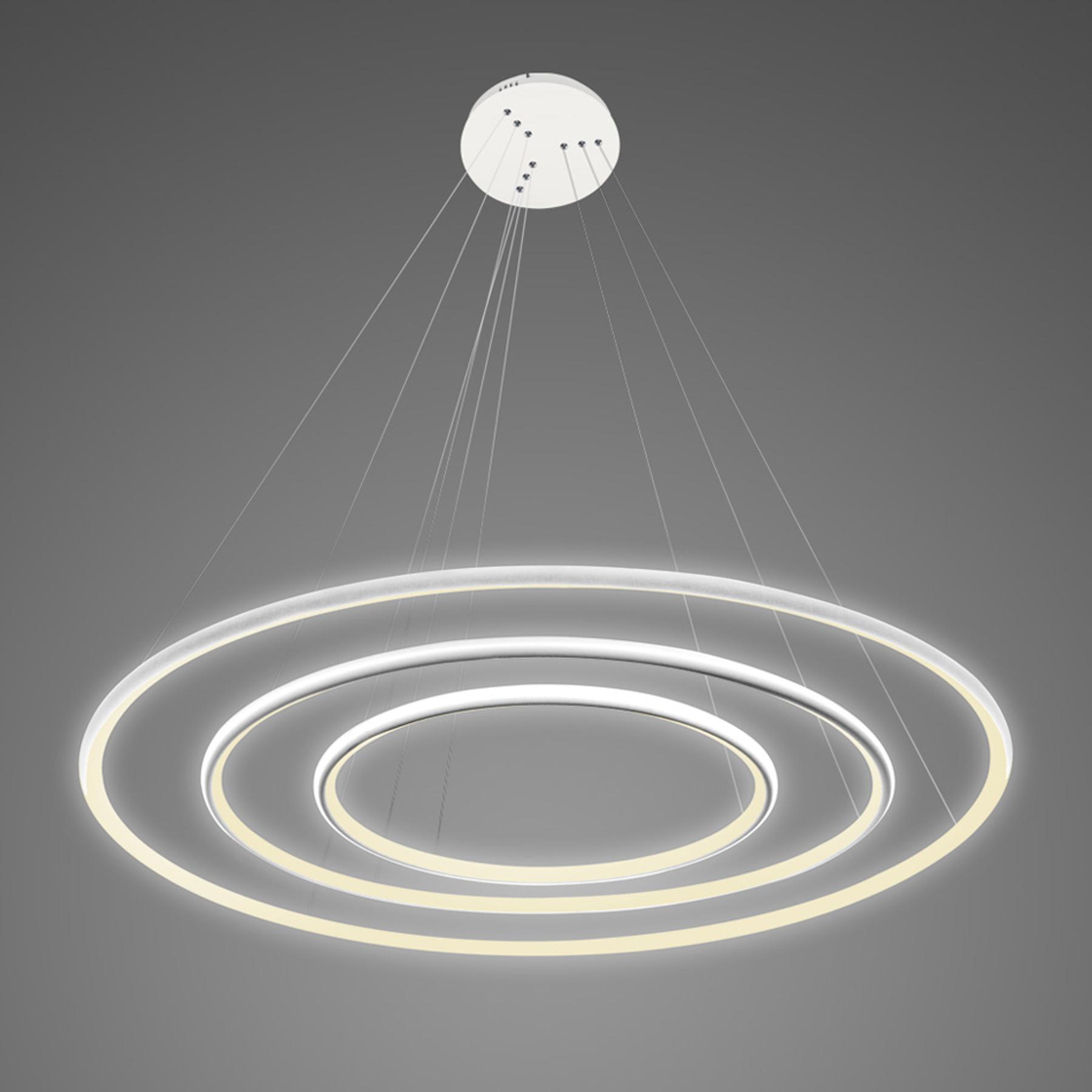 Suspension LA075 à 3 lampes 80cm blanche 3000K