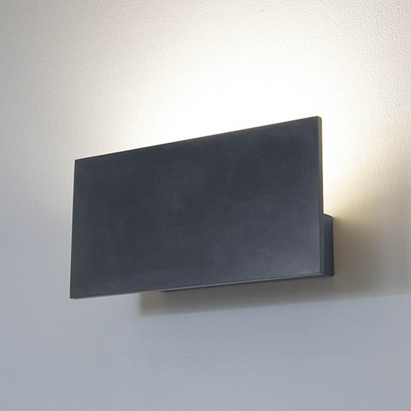 LED-Außenwandleuchte 1090 mit Blende, schwarz