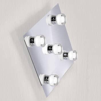Applique LED carrée Gilian à 5 lampes